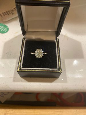 Moissanite engagement ring 2.09 carats for Sale in Berlin, NJ