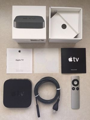 NEW APPLE TV 3 + ALL CABLES + REMOTE - DROP YOUR CABLE!!! for Sale in Fresno, CA