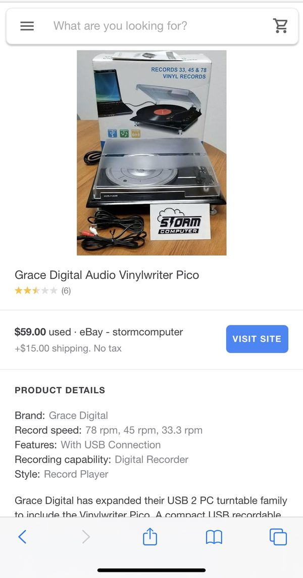 New in box!!!!! Grace Audio Vinylwriter Pro