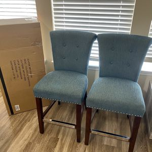 "3 (2 Used And 1 New )Counter Height Chairs Bar Stool Chair ""Great Condition"" for Sale in Katy, TX"