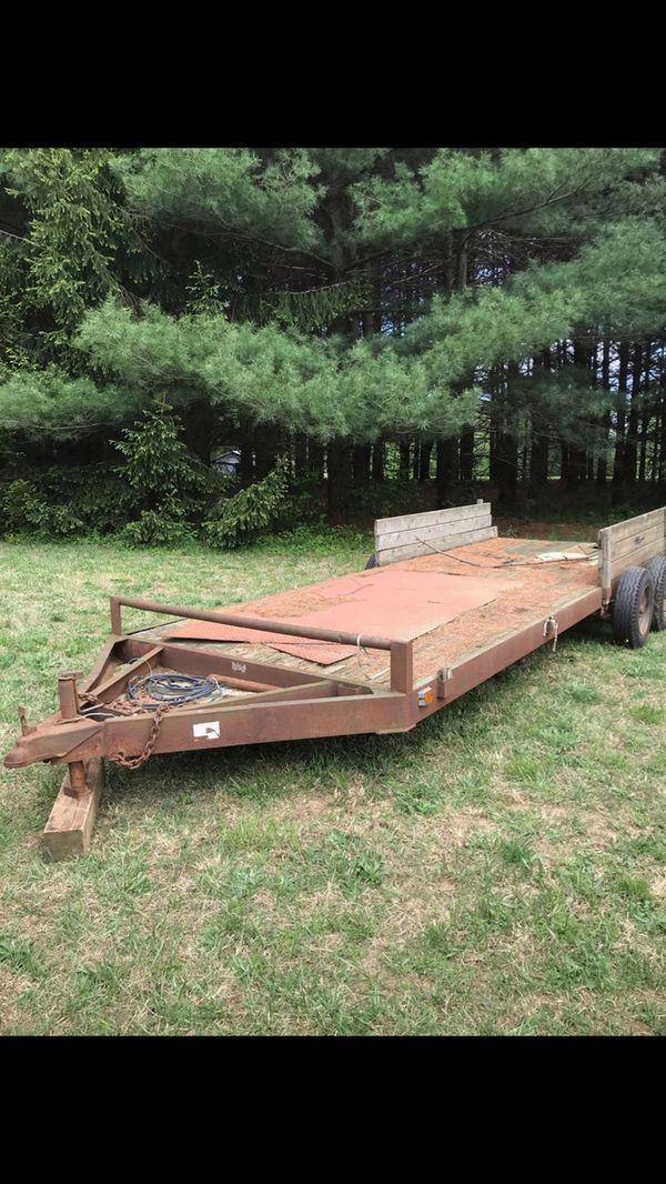 18 foot equipment/car trailer