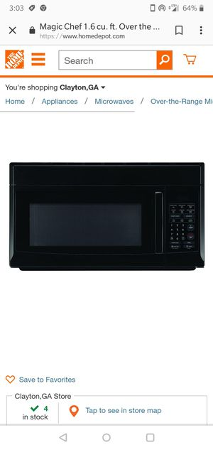Black wall mount microwave oven new 4 months for Sale in Miami, FL