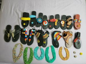 KENYAN SLIPPERS AND BEADS for Sale in Hyattsville, MD