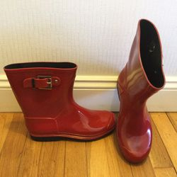 Mid Calf Red Rain Boots for Sale in Peabody,  MA