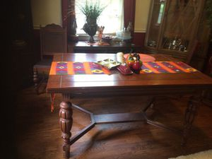 Antique table with six chairs can be bigger 220 for Sale in Nashville, TN