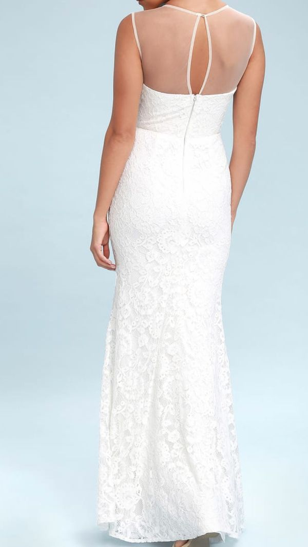 Lulus Amazing Lace White Lace Dress-brand new with tags