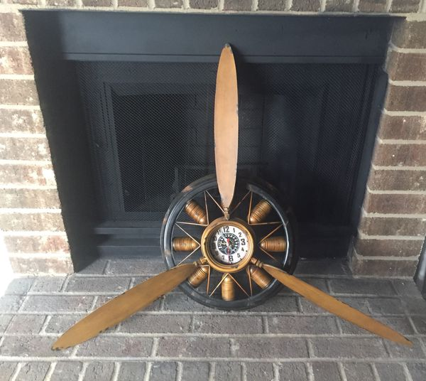 Vintage Propeller Antique Clock