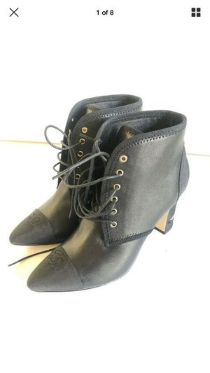 Chanel Black Leather Boots WITH EMBOSSED CC Size 38 $1295 for Sale in Los Angeles, CA