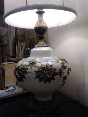 Antique Hollywood Regency Lamp Gold and Rainbow Glass for Sale in Phoenix, AZ