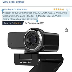 Webcam for zoom YouTube many more for Sale in El Sobrante, CA