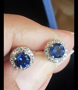 Blue sapphire Diamonds earrings for Sale in Round Rock, TX