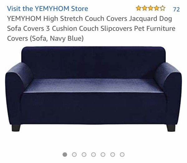 Navy Blue Yemyhom High Stretch Couch Cover Jacquard Dog Sofa Cover Slipcover Pet Furniture Protector