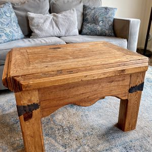 Mexican Crafted Wooden End Table for Sale in Tacoma, WA