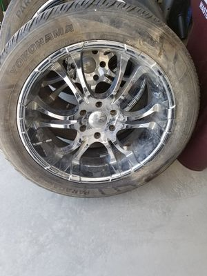 22 Inch Chrome Rims with Tires for Sale in Murrieta, CA