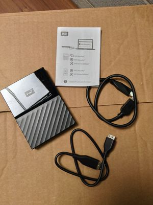 2TB Western Digital My Passport Portable HDD for Sale in Houston, TX