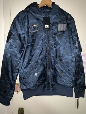Brand new men's X-ray heavy marine navy bomber jacket size large !!! for Sale in The Bronx, NY