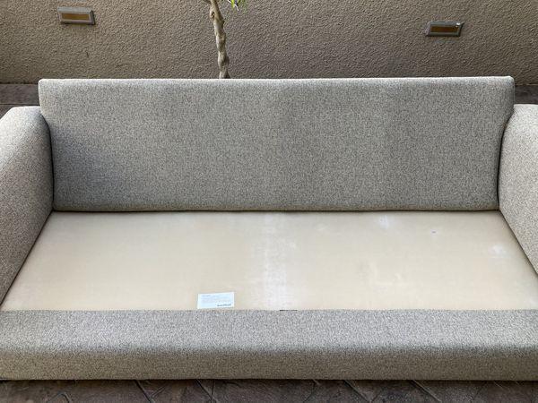 """Room & Board Metro 88"""" Two-cushion sofa in Tatum Grey"""