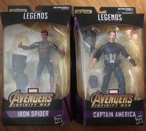 Avengers Infinity War: Iron Spider and Captain America for Sale in Montville, CT