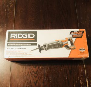 Ridgid reciprocating saw 18 v for Sale in Anaheim, CA