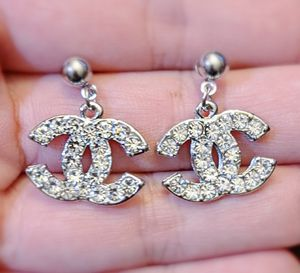 Classic silver tone crystals dangle earrings, v-day gift for Sale in Oakland, CA