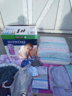 All new baby boy dipers and clothes for Sale in Midvale, UT