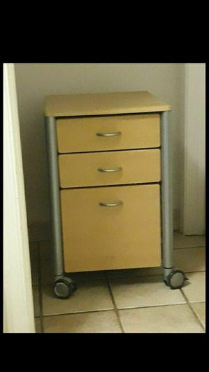 Office file cabinet, wheels for Sale in Fort Lauderdale, FL