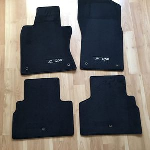 Infiniti Q50 OEM Black Carpeted Floor Mats Interior 2014 - 2020 for Sale in Downey, CA