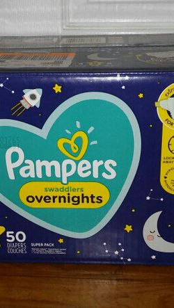 Pampers swaddlers overnights #5 for Sale in Lanham,  MD
