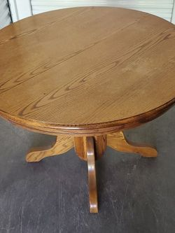 Classic Oakwood Table With Leaf for Sale in Santa Ana,  CA
