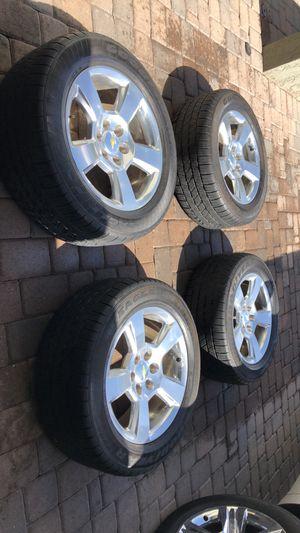 Chevy Silverado tires and rims 20' $800 obo for Sale in Gilbert, AZ