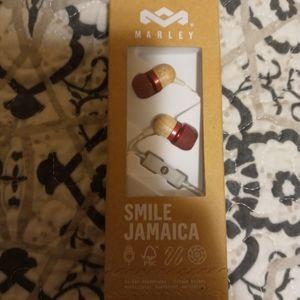 New Smile Jamaica Marley Earphones Earbuds Wood Grain for Sale in Lathrop, CA