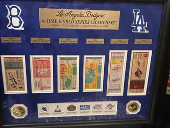 Los Angeles Dodgers Ticket Collection Frame for Sale in Lynwood,  CA