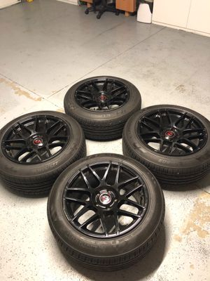Black rims with new tires for Sale in Riverside, CA