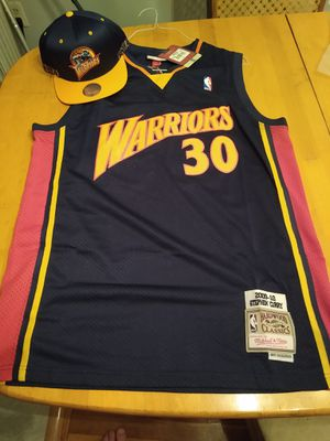 Stephen curry jersey with hat for Sale in Nashua, NH
