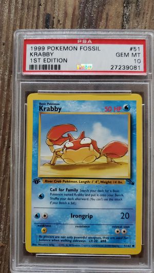 Crabby and zapdos pokemon cards PSA certified for Sale in Brooksville, FL