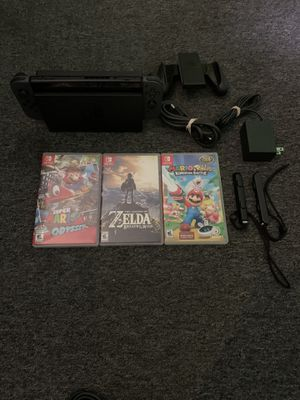 Nintendo Switch With 3 Games and Cords for Sale in Lakewood, OH