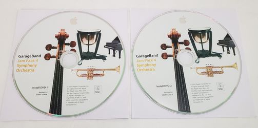 Apple GarageBand Jam Pack 4 - Symphony Orchestra 2 DVD Disc Set 2005 Very Rare! for Sale in St. Petersburg,  FL