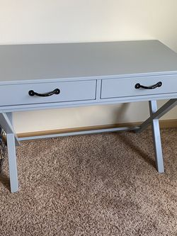 Gray Desk New Furniture Wood for Sale in Puyallup,  WA