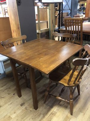 Dark Wood Double Drop Leaf Table for Sale in Jacksonville, NC