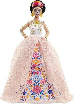 Barbie Signature Dia De Muertos 2020 Doll (12-in Brunette) in Embroidered Lace Dress and Flower Crown for Sale in Lawnside, NJ