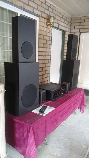 High end stereo system. Onkyo txsv909pro. With. Cambridge sound works speakers 2power 12 inch sub. 2. 8inch mids. 2highs for Sale in Visalia, CA