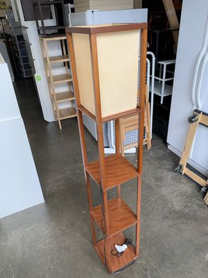 Floor lamp with rack for Sale in Santa Ana, CA