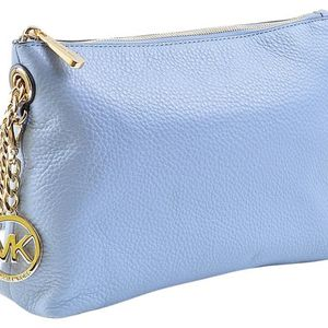 Messenger Jet Set Chain Item Top Zip (B3040e) Pale Blue Pebbled Leather Cross Body Bag for Sale in Fort Lauderdale, FL