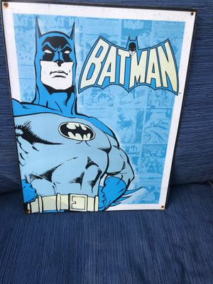 Vintage Metal Batman wall decor for Sale in Clermont, FL