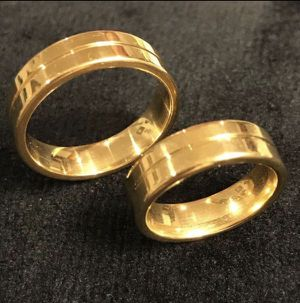 18K Gold plated matching ring set- Code A12 for Sale in Washington, DC