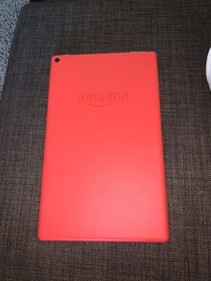 """Fire HD 10 Tablet 10.1"""" 1080p, 32 GB, Punch Red with Amazon Case and Original Charger for Sale in Austin, TX"""