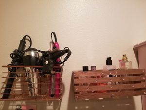 Two Metallic Rose Gold Holding Shelves for Sale in Anaheim, CA