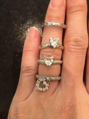 Follifolli 4 rings and silver bracelet for Sale in Atlanta, GA