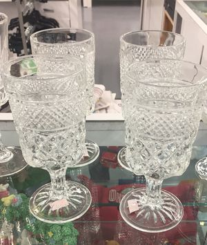 Wexford Water Goblets Anchor Hocking for Sale in Parkersburg, WV