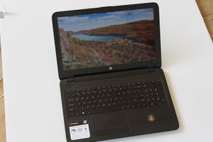 "HP Notebook 15-ba015wm 15.6"" (500GB, AMD E2, 1.80GHz, 4GB) Notebook - Black for Sale in Albany, GA"